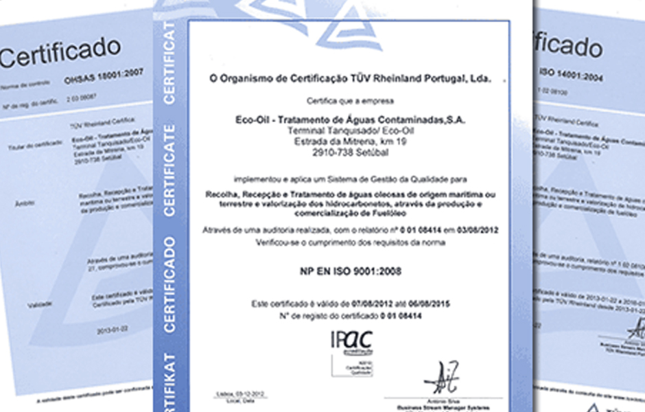 Policy, Licences and Certifications