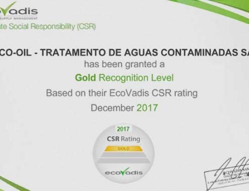 ECOVADIS – Certificado GOLD