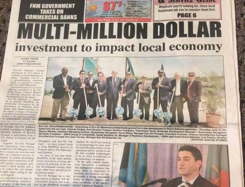 Lançamento da Primeira Pedra da Eco-Oil Bahamas