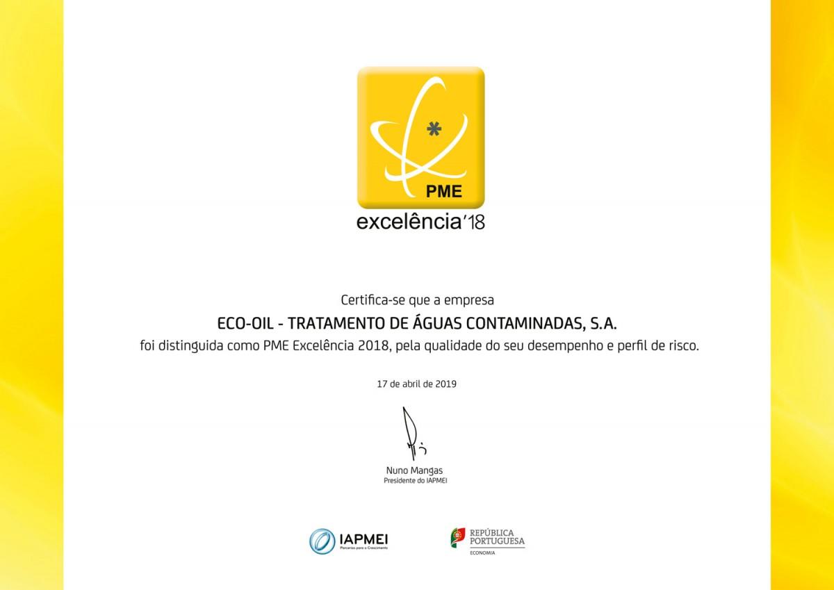 Certificado PME Excelência 2018