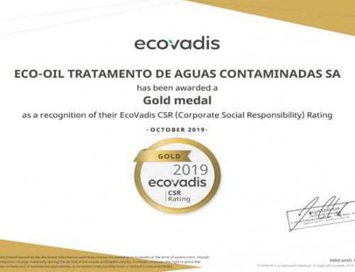 Eco-Oil conquista o GOLD ranking no EcoVadis Sustainability ratings & scorecards