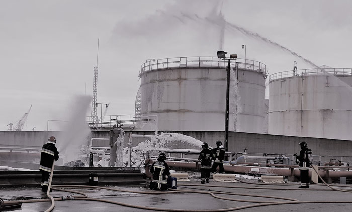 Annual exercise with fire simulation at the terminal